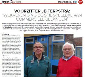 JB Terpstra in Grootsneek